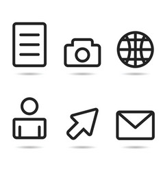 Icons line vector