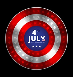 Independence day of 4th july vector image