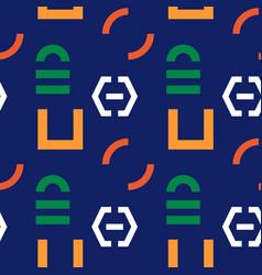 Interlock graphic seamless pattern vector