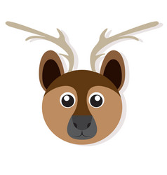 isolated deer face vector image