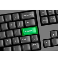 keyboard with solution vector image