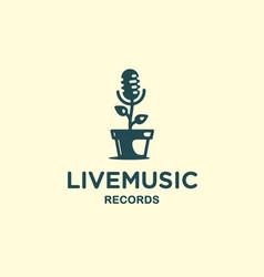 Modern professional sign logo live music vector