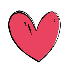 nice heart to love and romance symbol vector image