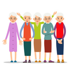 Older woman old woman character in various poses vector