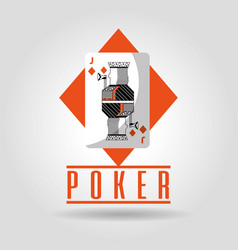 Poker jack of diamonds playing card poster vector