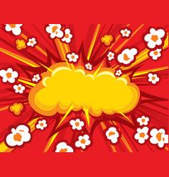 popcorn explosion vector image