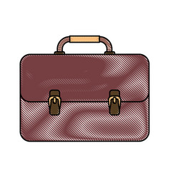 portfolio briefcase icon vector image