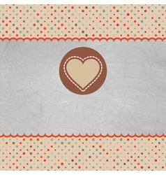Retro Valentines Heart Card vector image