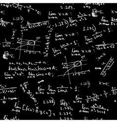 seamless background math formulas vector image