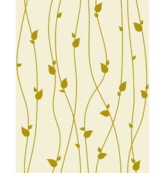 seamless foliage pattern with spring branches vector image