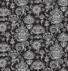 Seamless pattern with hand drawn henna mehndi vector