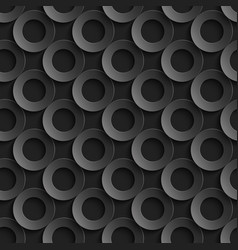 seamless pattern with paper cut 3d black circles vector image