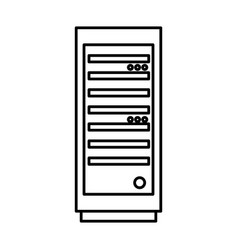 Server tower isolated icon vector