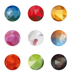 Set from triangle colored abstract in a circle fra vector