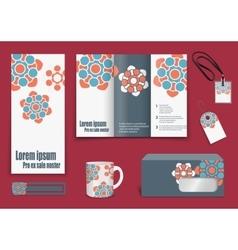 Set of presentation flyer design content vector image