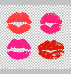Sexy and passionate kiss sign vector