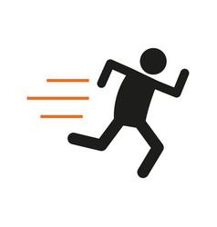 Simple marathon run outline sport figure symbol vector