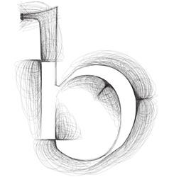 Sketch font Letter b vector