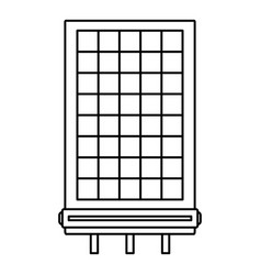 solar battery icon outline style vector image