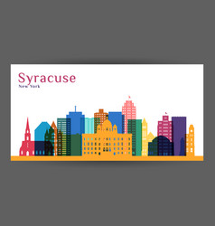 syracuse city architecture silhouette vector image