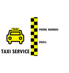 Taxi business card vector