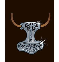 Thor hammer vector image
