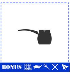 Turk icon flat vector