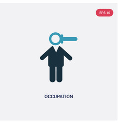 two color occupation icon from people concept vector image