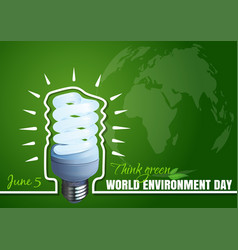 Typographic design for world environment day vector