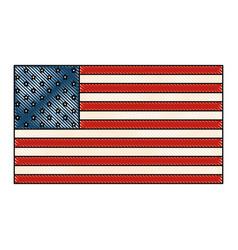 Usa country flag icon vector