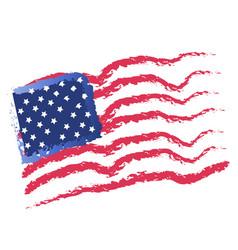 usa flag and stars icon vector image
