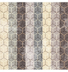 vintage cubes seamless vector image