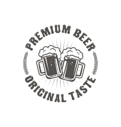 Best Beer Vintage craft beer retro design element vector image vector image