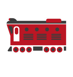 cargo carriage locomotive icon isolated on white vector image
