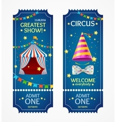 Circus Tickets Set vector image vector image