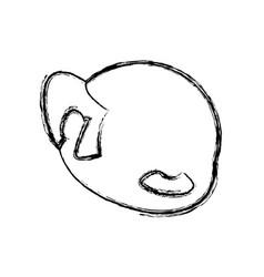 faceless male avatar elder head vector image vector image