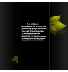Spring abstract background on black background vector image vector image