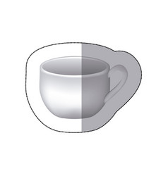 sticker white cup icon vector image vector image