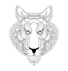 Tiger Zentangle Tiger face vector image vector image