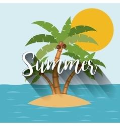 Tropical summer landscape design vector image