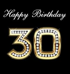 30th happy birthday vector image vector image