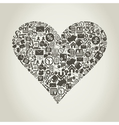 Business heart vector image vector image