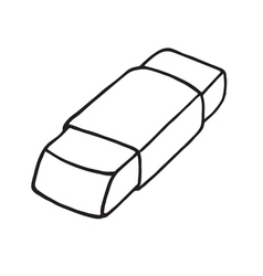 Eraser icon Outlined vector image vector image