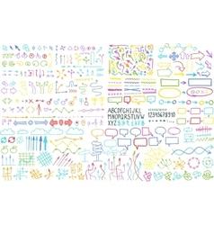 Hand draw arrow set elements vector image vector image