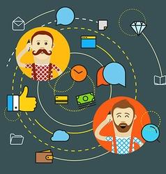 Modern web communication concept vector image vector image