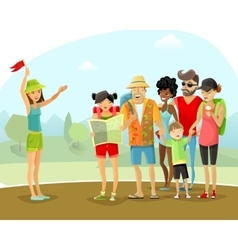 Tour Vacation Guide vector image vector image
