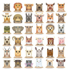 Animals set new big vector image vector image