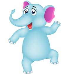 baby elephant dancing vector image