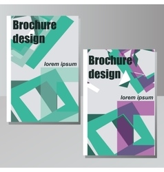 brochure design for business or vector image vector image