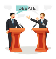 debate poster with two politicians on vector image